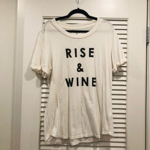 """""""Rise and Wine"""" Anthropologie Graphic Tee"""